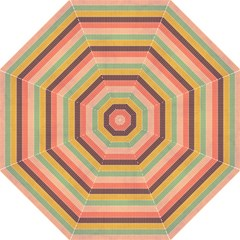 Abstract Vintage Lines Background Pattern Folding Umbrellas by Amaryn4rt