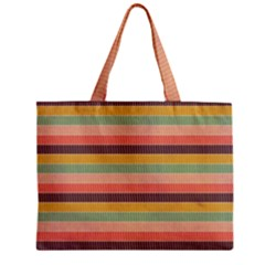 Abstract Vintage Lines Background Pattern Zipper Mini Tote Bag by Amaryn4rt