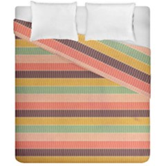 Abstract Vintage Lines Background Pattern Duvet Cover Double Side (california King Size) by Amaryn4rt