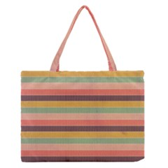 Abstract Vintage Lines Background Pattern Medium Zipper Tote Bag