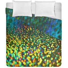 Construction Paper Iridescent Duvet Cover Double Side (california King Size) by Amaryn4rt
