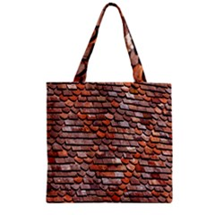 Roof Tiles On A Country House Zipper Grocery Tote Bag by Amaryn4rt