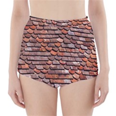 Roof Tiles On A Country House High Waisted Bikini Bottoms by Amaryn4rt