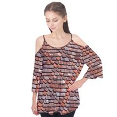 Roof Tiles On A Country House Flutter Tees by Amaryn4rt