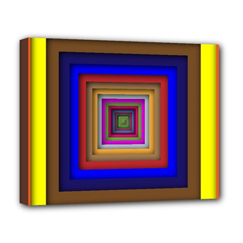 Square Abstract Geometric Art Deluxe Canvas 20  X 16   by Amaryn4rt