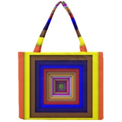 Square Abstract Geometric Art Mini Tote Bag by Amaryn4rt