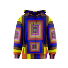 Square Abstract Geometric Art Kids  Zipper Hoodie