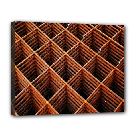 Metal Grid Framework Creates An Abstract Canvas 14  X 11  by Amaryn4rt