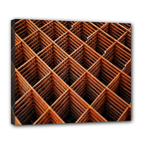 Metal Grid Framework Creates An Abstract Deluxe Canvas 24  X 20   by Amaryn4rt