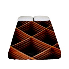 Metal Grid Framework Creates An Abstract Fitted Sheet (full/ Double Size) by Amaryn4rt