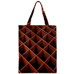 Metal Grid Framework Creates An Abstract Zipper Classic Tote Bag by Amaryn4rt
