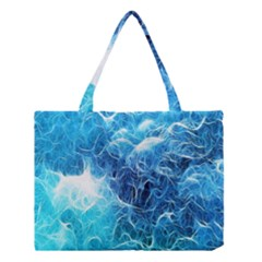 Fractal Occean Waves Artistic Background Medium Tote Bag by Amaryn4rt