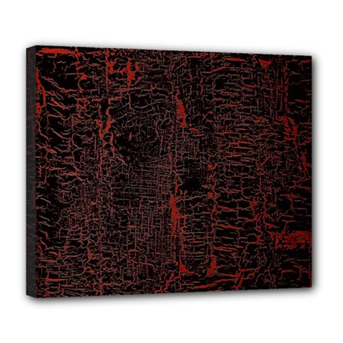 Black And Red Background Deluxe Canvas 24  X 20   by Amaryn4rt