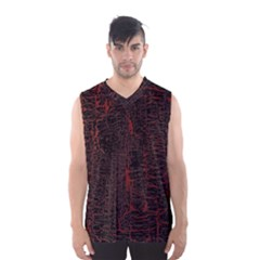 Black And Red Background Men s Basketball Tank Top by Amaryn4rt