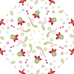Colorful Floral Wallpaper Background Pattern Folding Umbrellas by Amaryn4rt