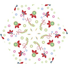 Colorful Floral Wallpaper Background Pattern Mini Folding Umbrellas by Amaryn4rt