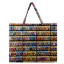 Flower Seeds For Sale At Garden Center Pattern Zipper Large Tote Bag View1
