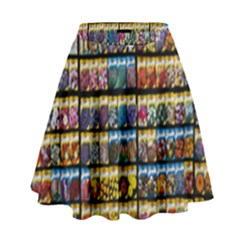 Flower Seeds For Sale At Garden Center Pattern High Waist Skirt by Amaryn4rt