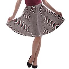 Digital Fractal Pattern A Line Skater Skirt
