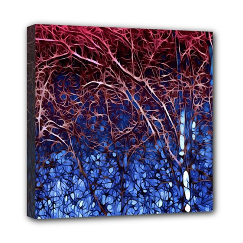 Autumn Fractal Forest Background Mini Canvas 8  X 8  by Amaryn4rt