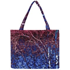 Autumn Fractal Forest Background Mini Tote Bag by Amaryn4rt