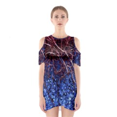 Autumn Fractal Forest Background Shoulder Cutout One Piece