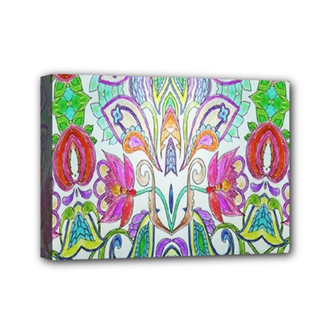 Wallpaper Created From Coloring Book Mini Canvas 7  X 5  by Amaryn4rt
