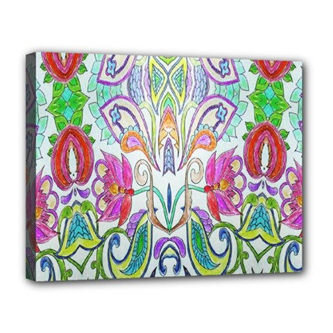 Wallpaper Created From Coloring Book Canvas 14  X 11  by Amaryn4rt