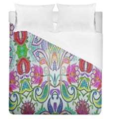 Wallpaper Created From Coloring Book Duvet Cover (queen Size) by Amaryn4rt