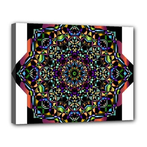 Mandala Abstract Geometric Art Canvas 14  X 11  by Amaryn4rt