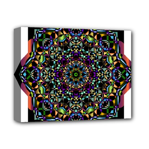 Mandala Abstract Geometric Art Deluxe Canvas 14  X 11  by Amaryn4rt