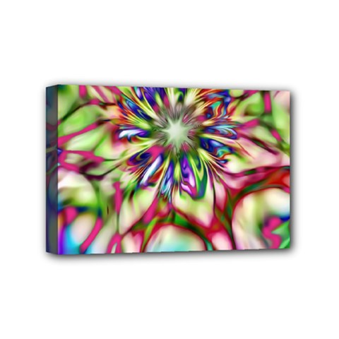 Magic Fractal Flower Multicolored Mini Canvas 6  X 4  by EDDArt