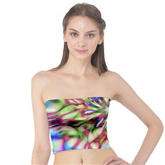 Magic Fractal Flower Multicolored Tube Top by EDDArt