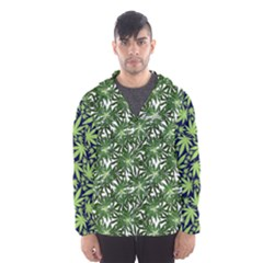 Cannabis Hooded Wind Breaker (men) by PattyVilleDesigns