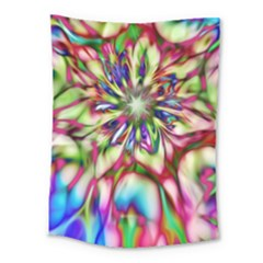 Magic Fractal Flower Multicolored Medium Tapestry