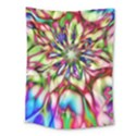 Magic Fractal Flower Multicolored Medium Tapestry View1