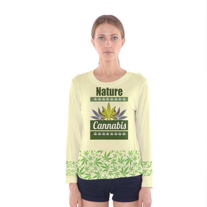 Cannabis Women s Long Sleeve Tee