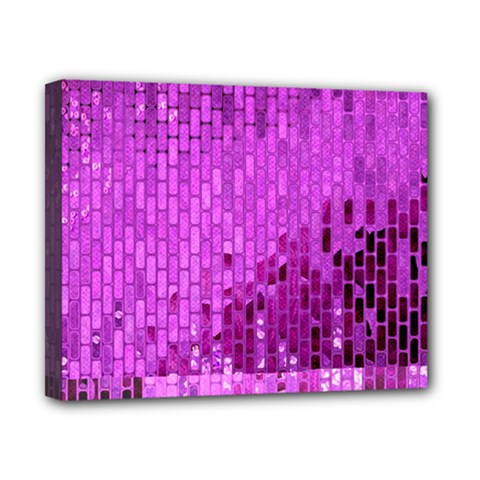 Purple Background Scrapbooking Paper Canvas 10  X 8  by Amaryn4rt