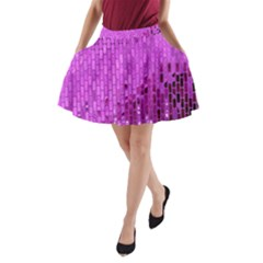Purple Background Scrapbooking Paper A Line Pocket Skirt by Amaryn4rt