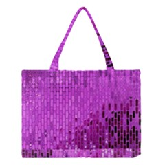 Purple Background Scrapbooking Paper Medium Tote Bag by Amaryn4rt