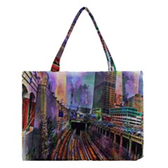 Downtown Chicago Medium Tote Bag by Amaryn4rt