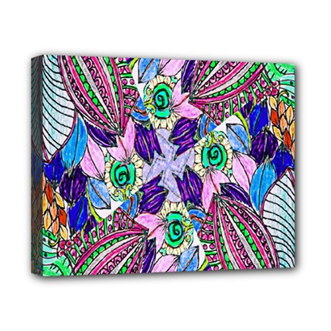 Wallpaper Created From Coloring Book Canvas 10  X 8  by Amaryn4rt