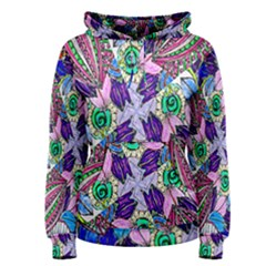 Wallpaper Created From Coloring Book Women s Pullover Hoodie by Amaryn4rt