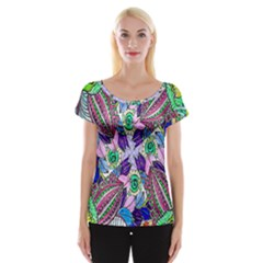 Wallpaper Created From Coloring Book Women s Cap Sleeve Top by Amaryn4rt