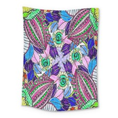 Wallpaper Created From Coloring Book Medium Tapestry by Amaryn4rt