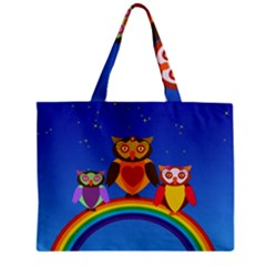 Owls Rainbow Animals Birds Nature Mini Tote Bag by Amaryn4rt