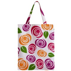 Colorful Seamless Floral Flowers Pattern Wallpaper Background Zipper Classic Tote Bag by Amaryn4rt