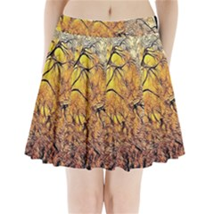 Summer Sun Set Fractal Forest Background Pleated Mini Skirt by Amaryn4rt