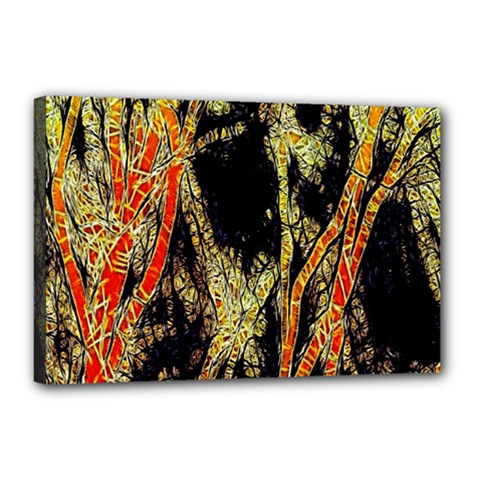 Artistic Effect Fractal Forest Background Canvas 18  X 12  by Amaryn4rt