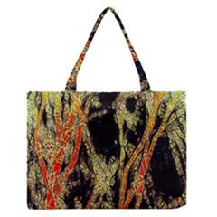 Artistic Effect Fractal Forest Background Medium Zipper Tote Bag by Amaryn4rt